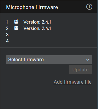 Updating the firmware of devices